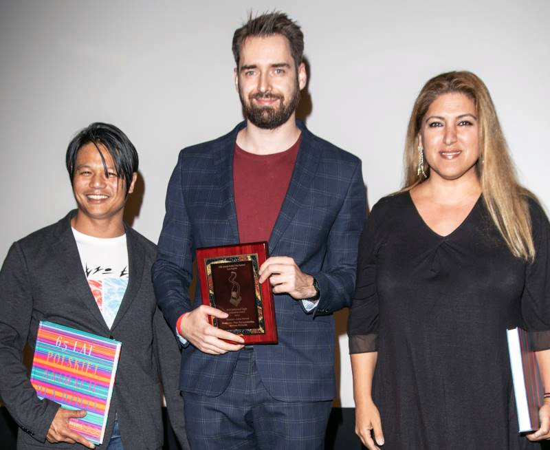 PFFLA 2019 - Artur Marcol with the Hollywood Eagle Animation Award